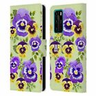 HEAD CASE DESIGNS WATERCOLOUR FLOWERS 2 LEATHER BOOK CASE FOR HUAWEI PHONES