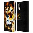 HEAD CASE DESIGNS WILDFIRE LEATHER BOOK WALLET CASE COVER FOR HUAWEI PHONES
