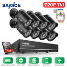 battery powered security camera system - SANNCE 8CH 1080N Battery Backup DVR 720P 1500TVL Security Camera System IR Night