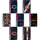 OFFICIAL NFL CHICAGO BEARS LOGO BLACK HYBRID GLASS BACK CASE FOR iPHONE PHONES