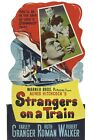 """""""Strangers On A Train"""" .Ruth Roman. Vintage Hitchcock Movie Poster Various Sizes"""