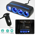 Car Charger Dual USB Port Splitter 12V-24V Socket Power Cigarette Lighter Outlet