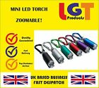 Mini LED Torch Flashlight Camping small Compact portable Keyring carabiner  7D