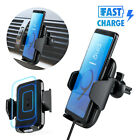 Qi Wireless Car Charger Magnetic Mount Holder For iPhone 12 Samsung S20 Note 10