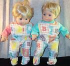 """Doll Clothes Baby Made 2 Fit American Girl 15"""" inch Boy Twin Pajamas Animals"""
