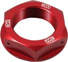 Works Connection Suzuki RM RM-Z Red Anodized Aluminum Steering Head Nut
