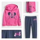 NWT baby Gap girls sz 3T or 5T Disney Minnie Mouse full zip hoodie and leggings