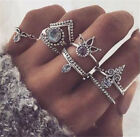 8pcs/set Mid Midi Above Knuckle Ring Band Gold Tip Finger Stacking Rings Set Hot