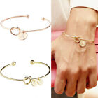 Women Heart Monogram With 26 Letters Bracelet Bridesmaid Bangle Fashion Jewelry