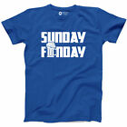 Sunday Funday T-shirt Funny Beer Pong Drinking Bar Hopping Redneck New Gift Tee