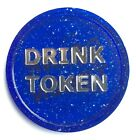 PLASTIC TOKENS DRINK FOIL PRINT 5 COLOURS - BAG OF 100 - BAR EVENT PARTY WEDDING