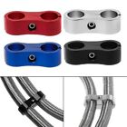 Внешний вид - Stepped Billet Dual AN4 AN6 AN8 AN10 Braided Hose Separator Clamp Cable Fastener