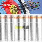 "Внешний вид - 24pcs 33"" Archery Arrow Fiberglass Arrows Nocks Fletched Target Practice Hunting"