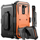 Rugged Hybrid Armor Case Cover With Stand Holster Belt Clip For LG Phone +Bundle