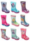 GIRLS OFFICIAL CHARACTER WELLIES WELLINGTON RAIN SNOW WELLYS BOOTS SIZE 5-2 image