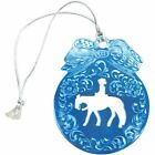ABETTA Hand Engraved Metal Horse Christmas Ornament with Hanger String