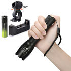 Tactical Light 50000LM Power T6 LED Flashlight Zoomable Torch 18650 Charger
