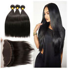 13*4 Lace Frontal Closure with 3 Bundle Brazilian Virgin Remy Straight Full Head