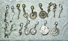 Steampunk Arrows Keys Clip-on Charms for Backpack Purse Zipper Stocking Stuffers