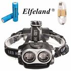 50000LM 2x T6 LED Zoomable Rechargeable Headlamp 18650 Headlight USB Torch