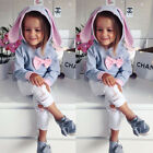 Kids Baby Girls Cotton Top Sweater Denim Hole Pants Leggings Outfits Set Clothes