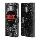 OFFICIAL AC/DC ACDC LOGO LEATHER BOOK WALLET CASE FOR MICROSOFT NOKIA PHONES