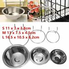 Stainless Steel Hanging Bowl Feeding Bowl Pet Bird Dog Food Water Cage Cup AA