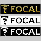 "Focal Decal Sticker 6.0"" X 1.40"" Dual Colors Black-gold Chrome-white Pro Audio"
