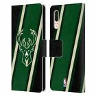 OFFICIAL NBA MILWAUKEE BUCKS LEATHER BOOK WALLET CASE COVER FOR HUAWEI PHONES