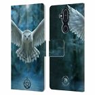 OFFICIAL ANNE STOKES OWLS LEATHER BOOK WALLET CASE FOR MICROSOFT NOKIA PHONES