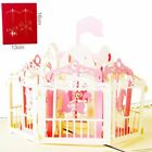1Pcs Merry-go-round 3D Pop Up Card Handmade Greeting Card Birthday Card PT