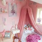 Bedroom Princess Kid Girls Canopy Tent Round Dome Curtain Bedcover Cotton Linen image