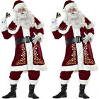 Santa Costume Deluxe Victorian Santa Claus Suit Christmas Costume Fancy Dress