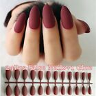24Pcs Long Full Square Stiletto Nails French Fake Nail In Artificial Fingernails