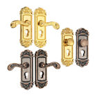 Внешний вид - Gold Metal Door Lock Knocker with Key Ornament Doll house Miniature Decor Crafts