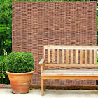 6FT Willow Fence Panels Fixed Natural Hurdle Garden Fencing Screening Border