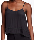 MLV Charlize Beaded Silk Tank Black NWT $130