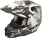 HMK Black/Grey Adult F2 Carbon Pro Snowcross Snowmobile Helmet by Fly Racing