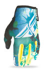Fly Racing Teal/Yellow/White Womens & Youth Kinetic Dirt Bike Gloves MX ATV 2017
