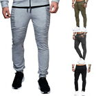 Men's Fashion Casual Pants Chino Jogger Biker Pant Slim Fit Fleece Jogger Pants