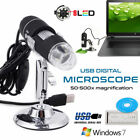 1000X 8 LED USB 2.0 Digital Microscope Endoscope Zoom Camera Magnifier Stand 2MP