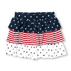 New TCP The Children's Place Girls July 4th Tiered Skort 4 5 6 7 8 10 12 14