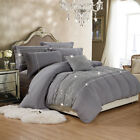 Luxury Duvet Cover With Pillowcases Quilt Cover Bedding Sets Double &amp; King Size <br/> ALL UK SIZE /SUPER SOFT MATERIAL/ FREE UK MAINLAND POST