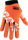 100% Mens & Youth Cal Trans Orange/White iTrack Dirt Bike Gloves
