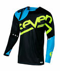 Seven Cyan Blue/Black/Hi-Viz Yellow Mens & Youth Rival Zone Dirt Bike Jersey ATV