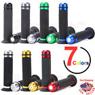 "Universal Motorcycle CNC Rubber Gel Hand Grips for 7/8"" 22mm Handlebar Dirt Bike $9.9 USD on eBay"