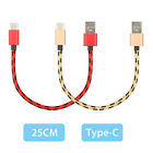 Lot Short USB Type C 3.1 Fast Data Charger Cable for Samsung Galaxy S8 S9 PLUS