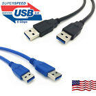 USB to USB Cable Superspeed USB 3.0 Type A Male to Type A Male Cable 6 Feet