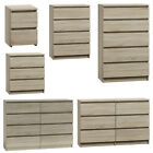 Modern - Sonoma Light Oak Chest Of Drawers And Bed Side Ikea Style