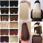 S-noilite Clip in Human Hair Extensions One Piece Straight Black Fast US Ship MY